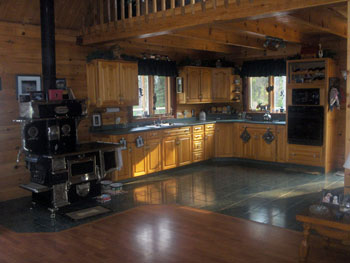 Our large open kitchen - click for larger image